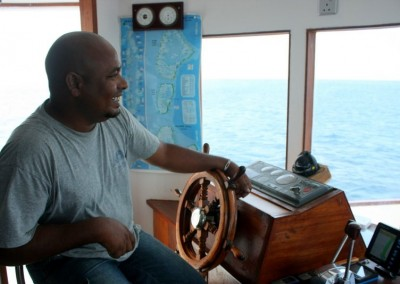 Adam at the wheel (Noah's previous captain)