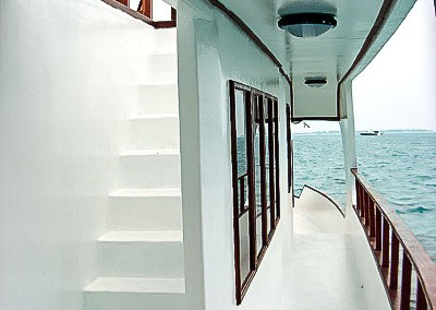 On deck - Noah boat Maldives