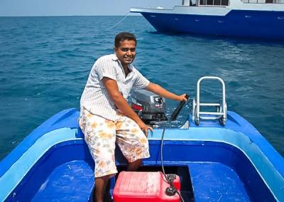 Noah Boat Crew - Shakheel in dinghy
